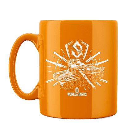 Кружка WoT Sabaton Tank logo оранжевая. Предзаказ
