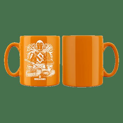 Кружка WoT Sabaton Knight оранжевая. Предзаказ