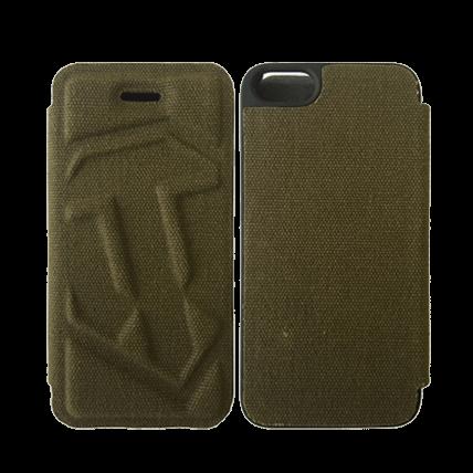 Чехол-книжка для iPhone 5/5S WoT (зелёный)