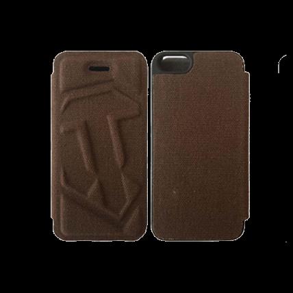 Чехол-книжка для iPhone 5/5S WoT (коричневый)