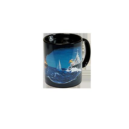 Кружка-хамелеон WoWS «Морской бой»