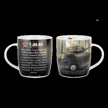 Кружка World of Tanks «Т-34-85» керамическая 350 мл