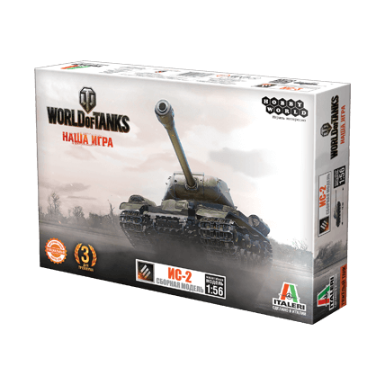 World of Tanks. Сборная модель танка ИС-2 в масштабе 1:56