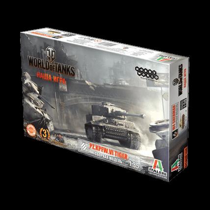 World of Tanks. Сборная модель танка Pz.Kpfw.VI Tiger в масштабе 1:35