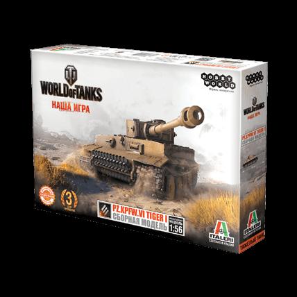 World of Tanks. Сборная модель танка Pz.Kpfw. VI TIGER I в масштабе 1:56