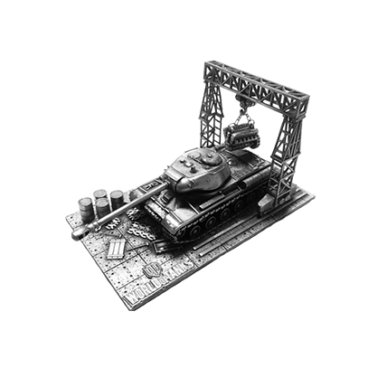 Танк ИС-2 с подставкой (1:72)