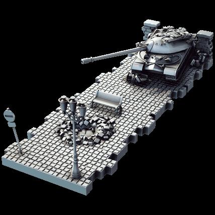 Танк ИС-7 (1:72) с диорамными подставками и декоративными элементами