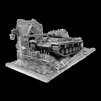 Танк КВ-1С с подставкой (1:72)