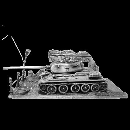 Танк Т-34-85 с подставкой (1:72) (новая версия)