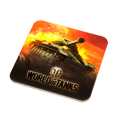 World of Tanks. Подставка под кружку из пробки