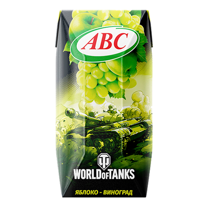 Нектар World of Tanks яблоко-виноград 0.2л
