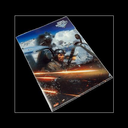 Папка-уголок пластиковая, А4, World of Warplanes