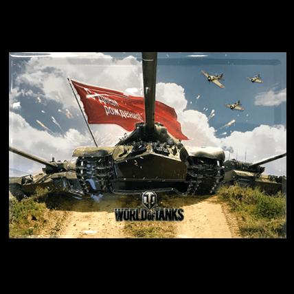Металлическая открытка с танками World of Tanks