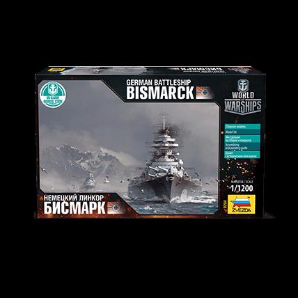 World of Warships. Сборная модель линкора «Бисмарк» (1:1200)