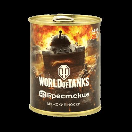 Носки World of Tanks в банке чёрные
