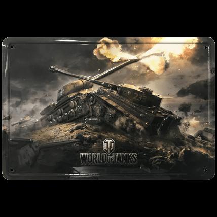 Металлическая табличка WoT, 20×30 см