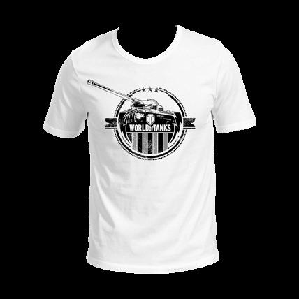 Футболка WoT, белая с логотипом
