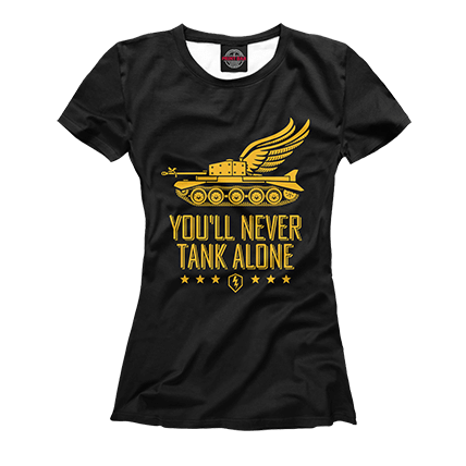Футболка WoT Blitz You Will Never Tank Alone